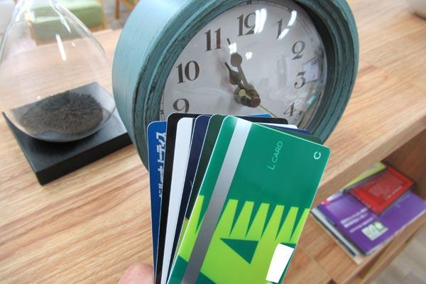 ローンカードと時計